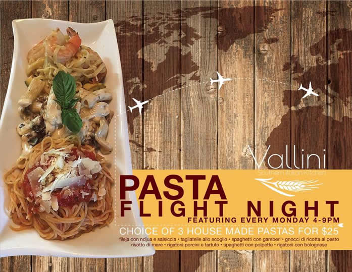 monday pasta flight night